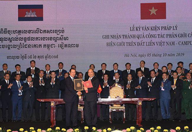 カンボジア、ベトナムとの国境画定で合意