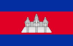 カンボジア国旗の歴史|真ん中に描かれている建物の意味も紹介