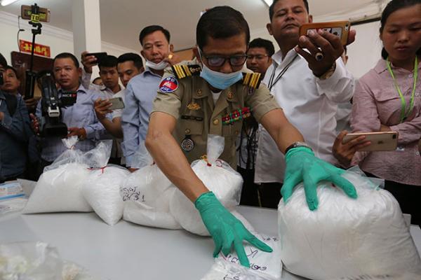 カンボジア:薬物関連の逮捕者数20%増加