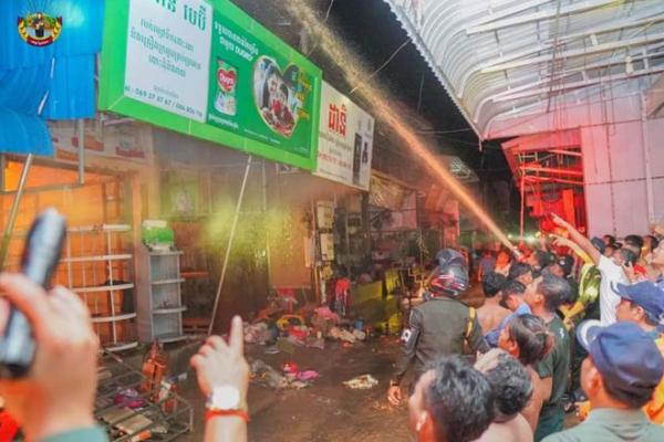 プレイベン州のマーケットで大規模火災、被害総額180万ドル