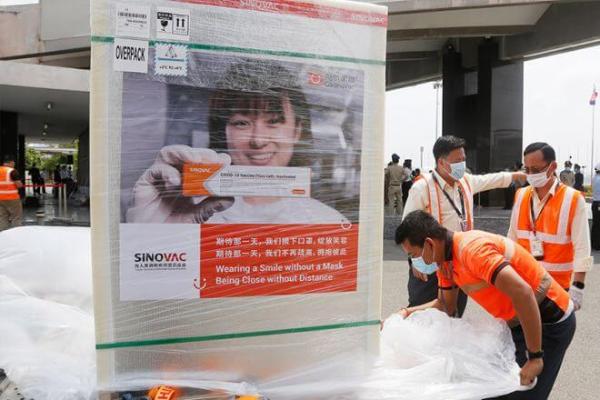 シノバック製ワクチン5万回分、カンボジアに到着