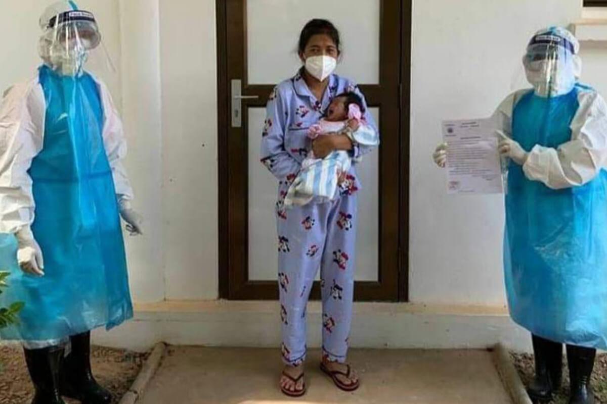 新型コロナ陽性の女性、女児を無事に出産