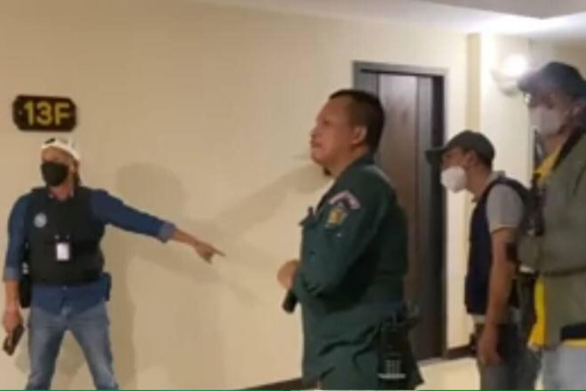 薬物取締りで容疑者が警察に発砲、プノンペンのコンドミニアムで