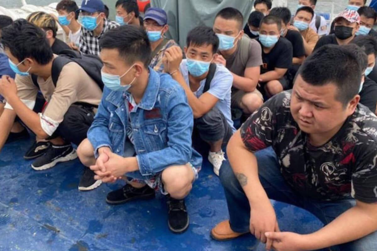 中国人36人が海路でカンボジアに不法入国、福建省から3700キロ
