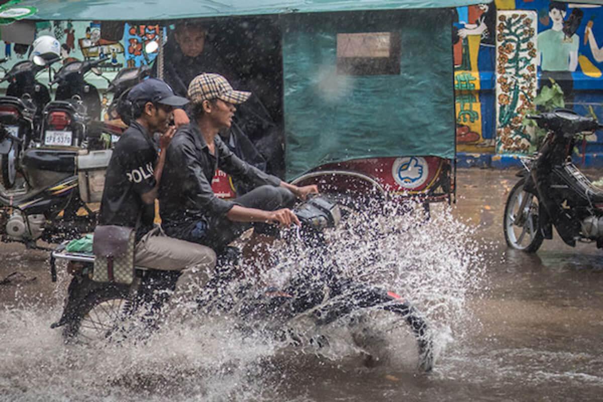 カンボジア:4日〜10日まで全国的に雨の恐れ