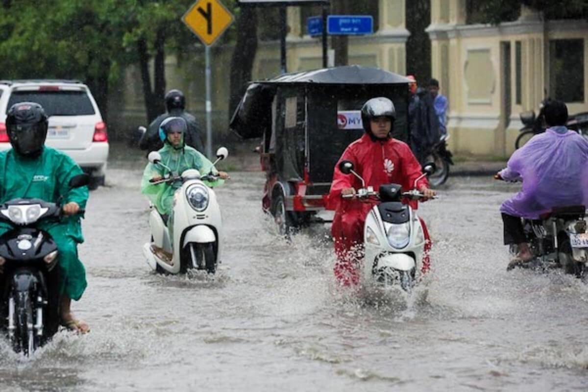 11日〜17日までは雨の恐れ、カンボジアでモンスーンの影響