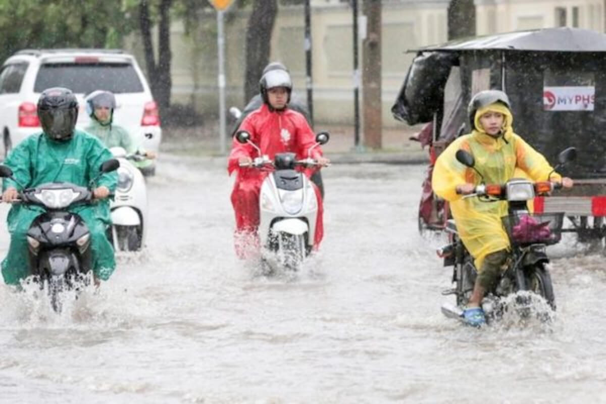 カンボジア:9月1日〜7日まで雨の予報