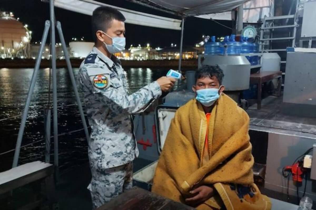 タイ湾で船から転落、2日間漂流のカンボジア男性をタイ海軍が救助