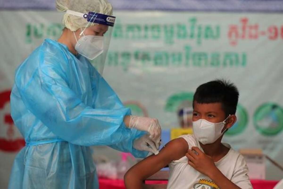 6〜11歳の子供向けワクチン接種開始 プノンペンなどで