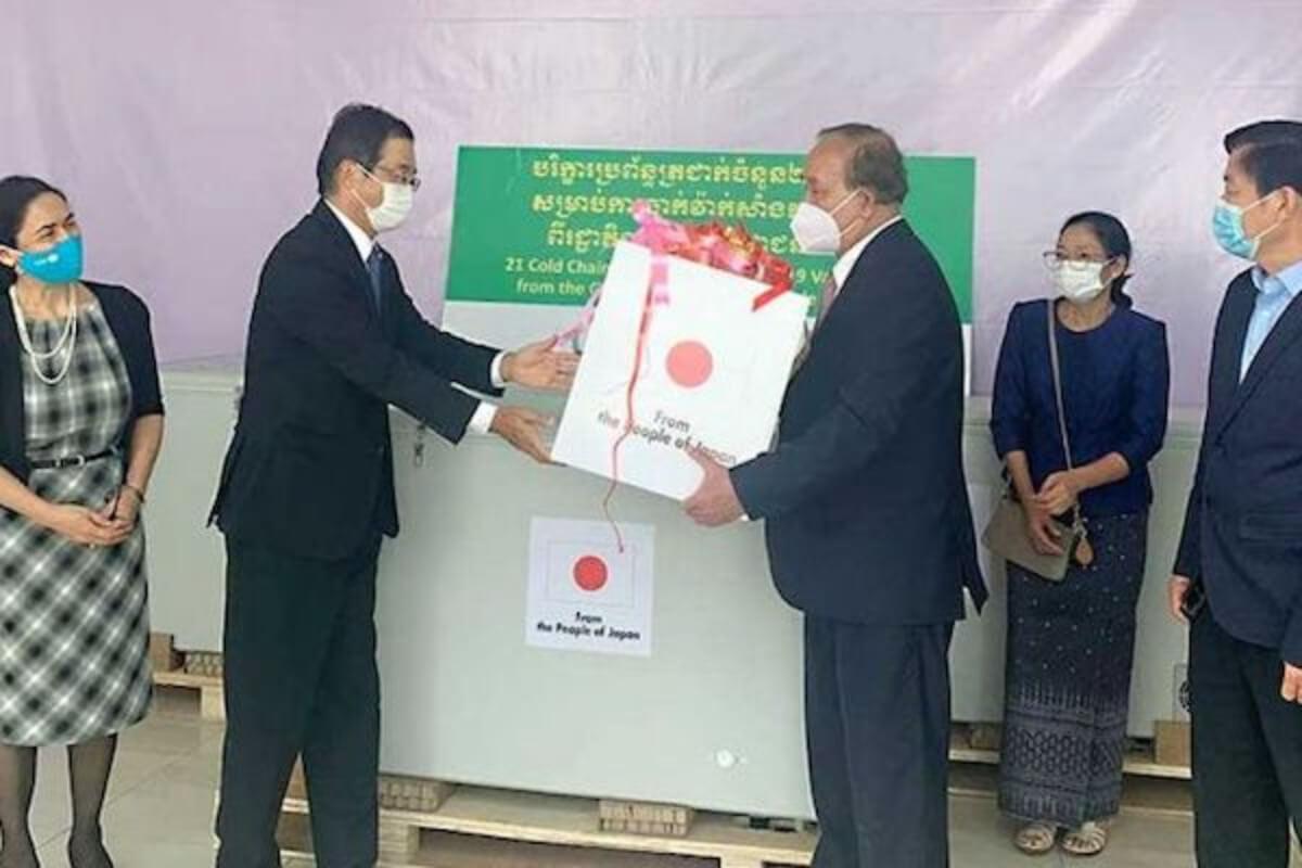 日本、カンボジアにワクチン保冷設備など供与