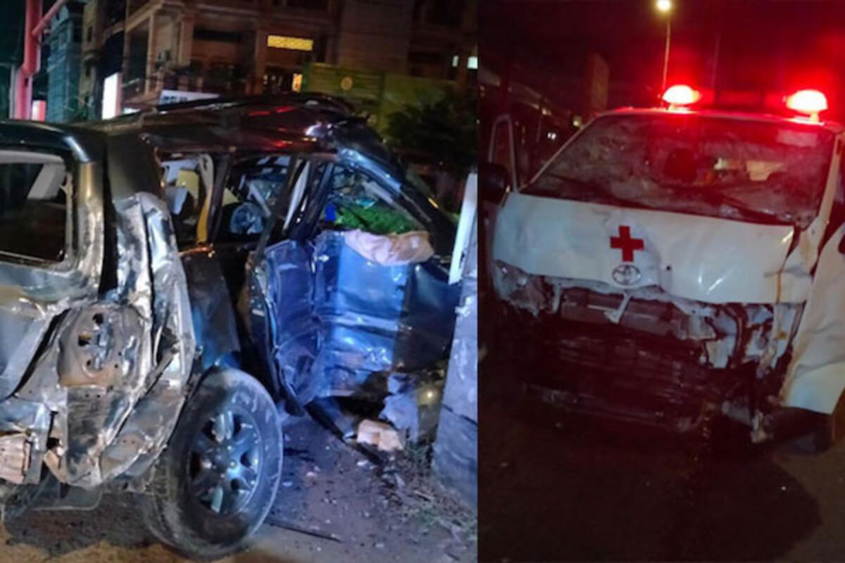 救急車と自動車が衝突、自動車運転の軍関係者が死亡