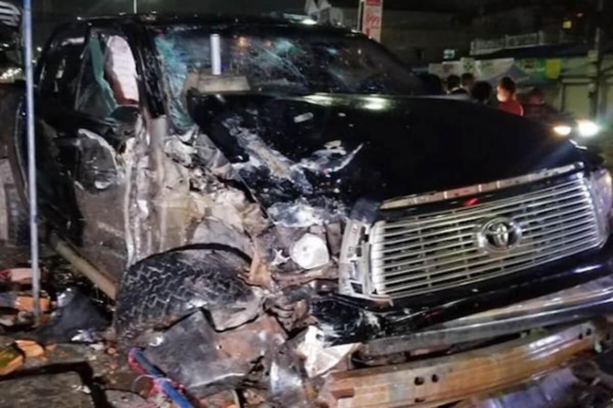 ピックアップトラックが飲酒運転で事故、6人死傷:プノンペン