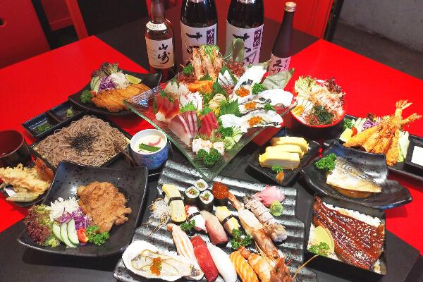 ご来店で日本酒/生ビール/ソフトドリンク1杯無料【鮨丼丸】