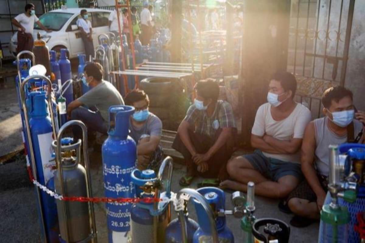 日本、ミャンマーに酸素濃縮器700台を供与