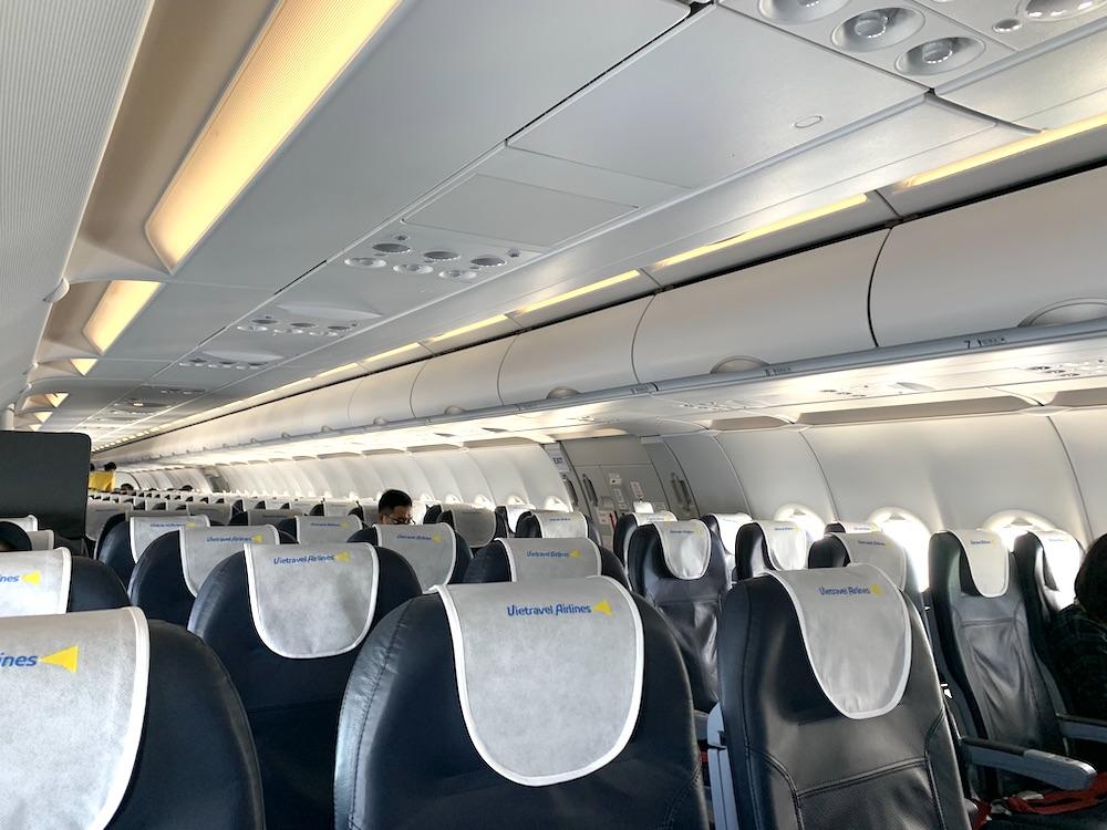 ベトトラベル航空の機内の様子