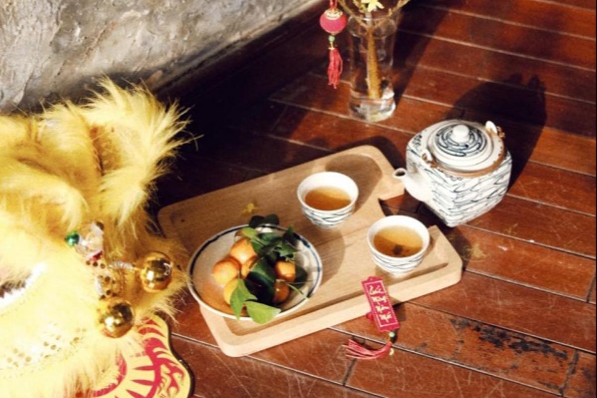 カフェでもテトのデコレーション、旧正月ムード高まる