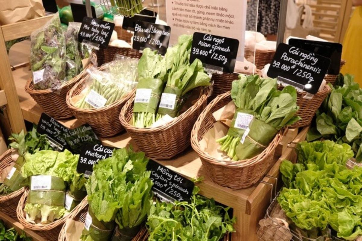 ホーチミン:無印良品が生鮮食品の販売開始、新鮮な野菜が店頭に並ぶ