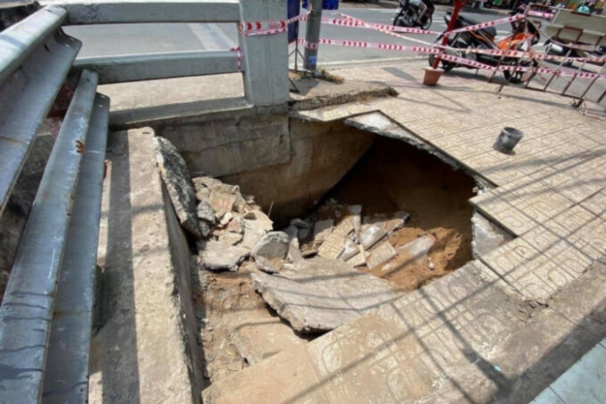 ホーチミン・トゥドゥック市で道路陥没、負傷者なし