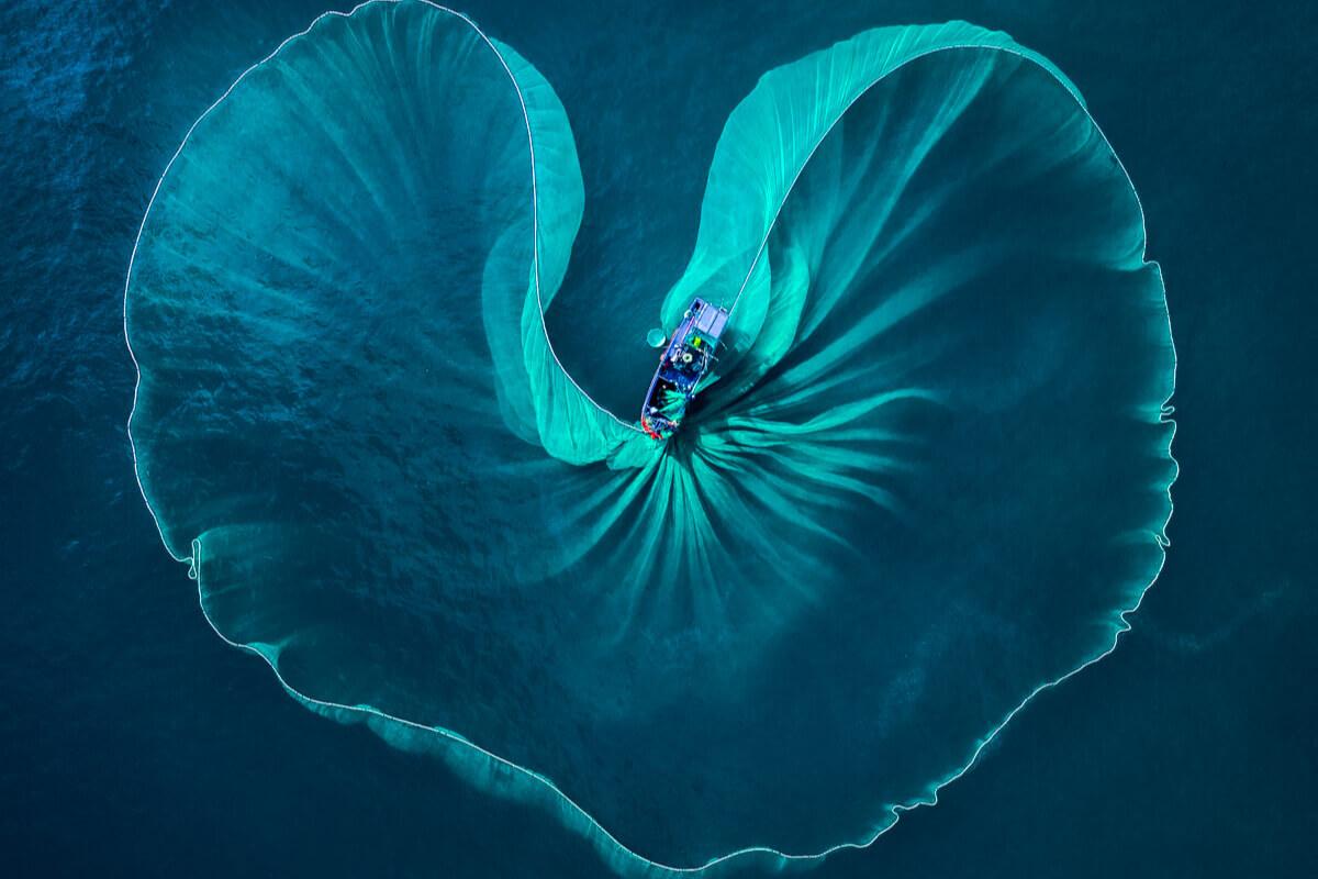 フーイエン省の漁船の写真、国際写真コンテストで受賞
