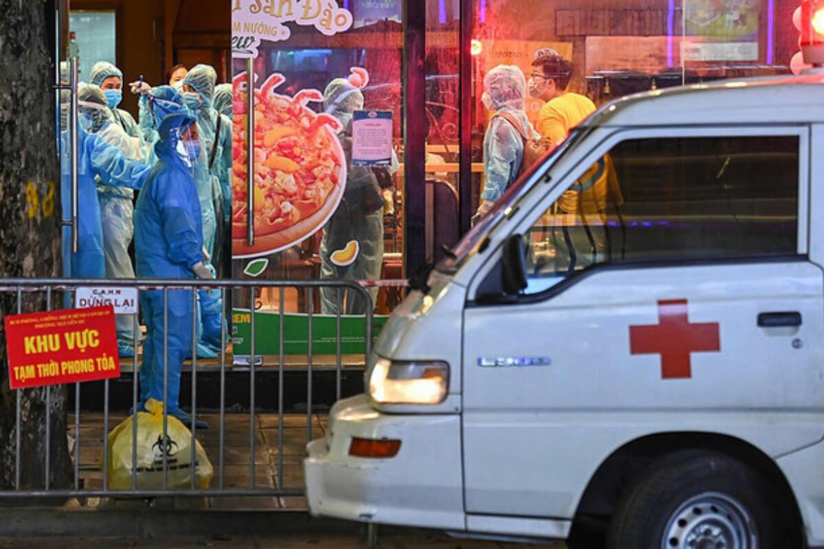 ハノイでクラスター発生、ハイバーチュン区のピザ屋で疑陽性者確認