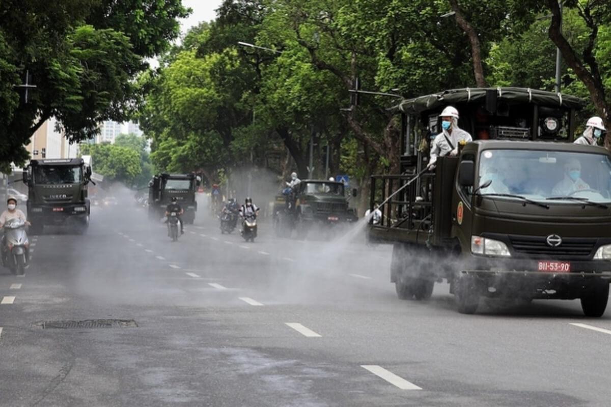 街中での消毒散布の取り止めを:ベトナム保健省が各地方に要請
