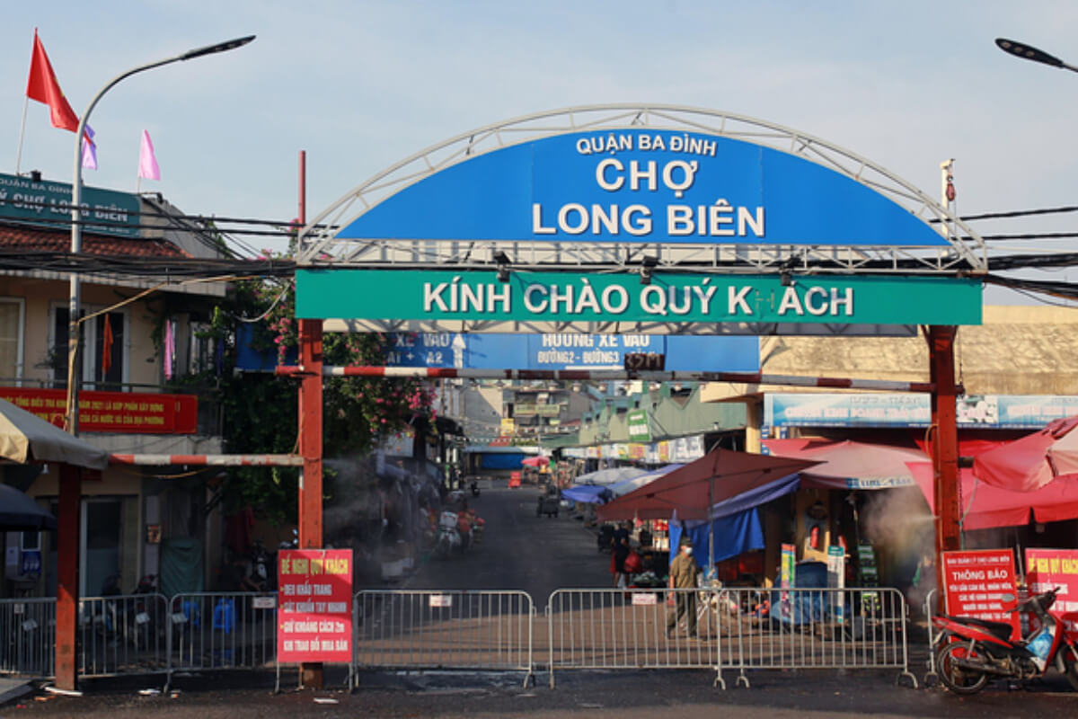 ハノイ最大の食品卸売市場ロンビエン市場が閉鎖、新型コロナ感染で