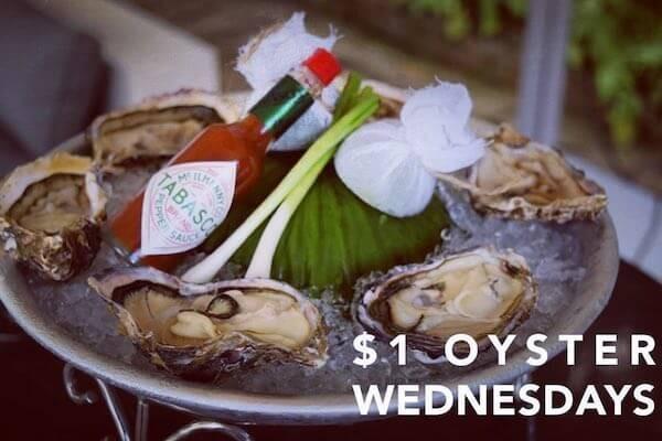牡蠣好きは水曜に「The Deck」へ!毎週水曜は牡蠣が1粒$1