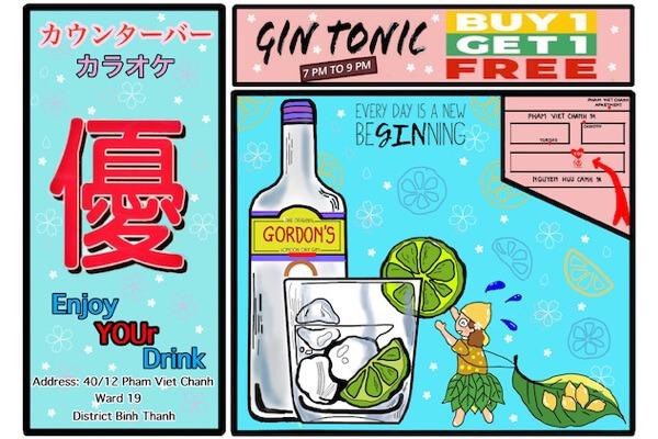 【毎日開催】19時〜21時までジントニック1杯ご注文で1杯無料!