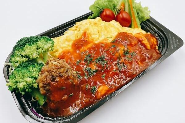 男飯,日本食,お弁当,デリバリー,オムライス,中華